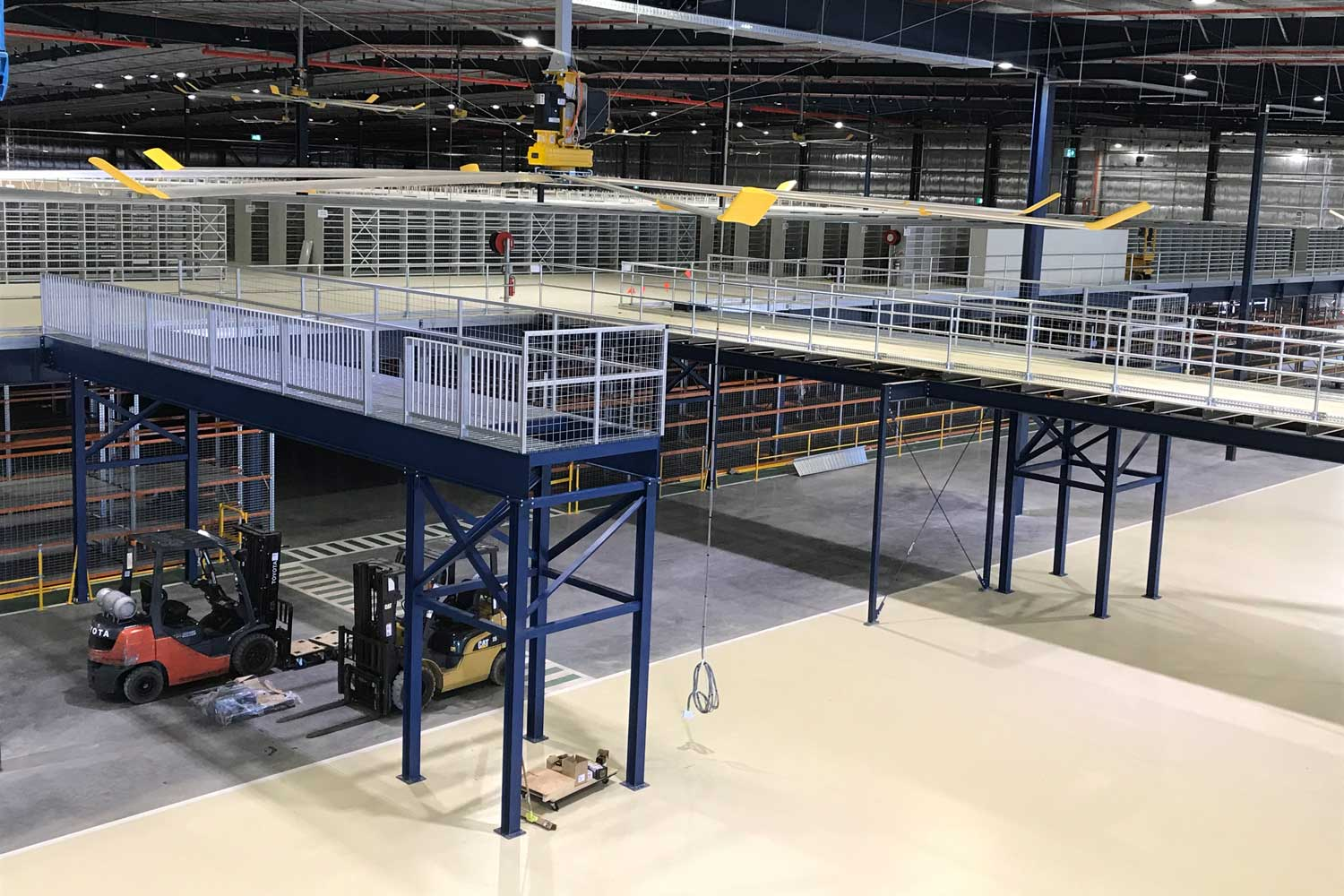 Structural Platform by Advanced Warehouse Structures with Forklift